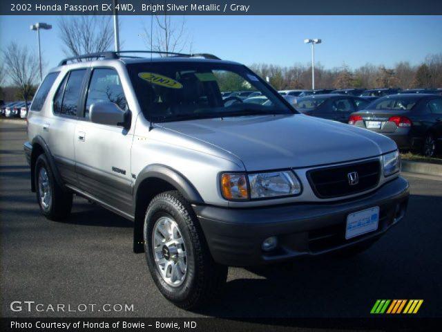 Bright Silver Metallic 2002 Honda Passport Ex 4wd Gray Interior Vehicle