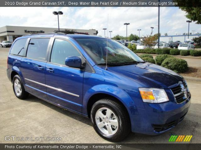 Deep Water Blue Pearl Coat 2010 Dodge Grand Caravan Sxt Medium Slate Gray Light Shale Interior Gtcarlot Com Vehicle Archive 19538267