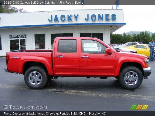 fire red 2010 gmc canyon sle crew cab 4x4 ebony interior vehicle archive. Black Bedroom Furniture Sets. Home Design Ideas