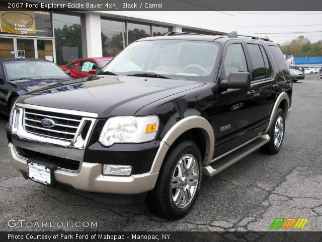 black 2007 ford explorer eddie bauer 4x4 camel interior vehicle archive. Black Bedroom Furniture Sets. Home Design Ideas