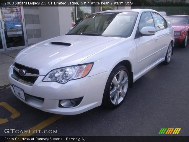 satin white pearl 2008 subaru legacy 2 5 gt limited sedan warm ivory interior. Black Bedroom Furniture Sets. Home Design Ideas