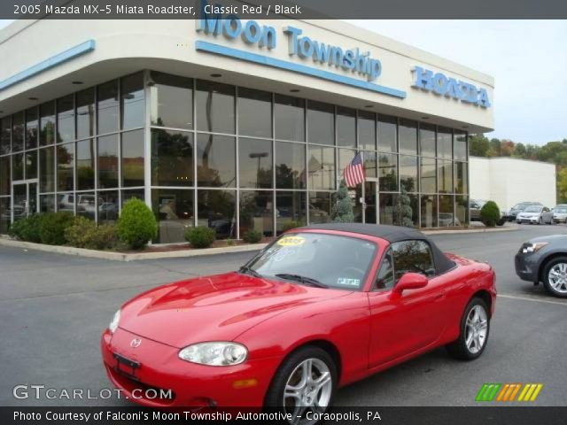 classic red 2005 mazda mx 5 miata roadster black interior vehicle archive. Black Bedroom Furniture Sets. Home Design Ideas