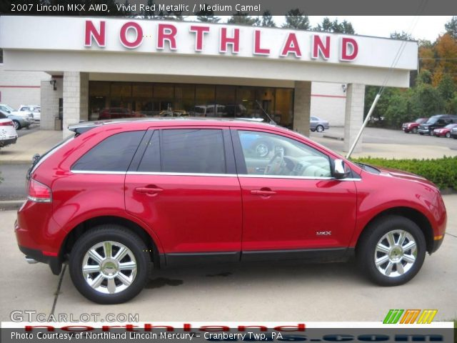 2007 Lincoln MKX AWD in Vivid Red Metallic. Click to see large photo.