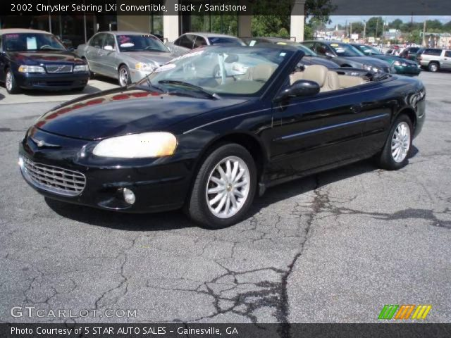 2002 Chrysler Sebring LXi Convertible in Black. Click to see large ...