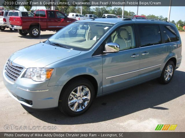 Clearwater Blue Pearl 2010 Chrysler Town Country Limited