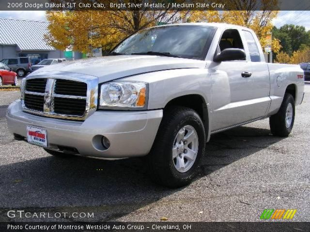 bright silver metallic 2006 dodge dakota slt club cab medium slate gray interior gtcarlot. Black Bedroom Furniture Sets. Home Design Ideas