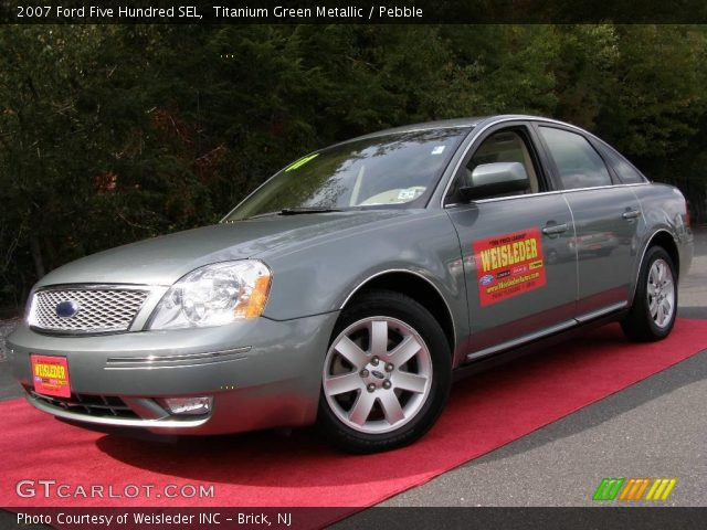 titanium green metallic 2007 ford five hundred sel pebble interior vehicle. Black Bedroom Furniture Sets. Home Design Ideas