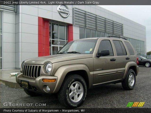 Light Khaki Metallic 2003 Jeep Liberty Limited 4x4 Dark Slate Gray Interior