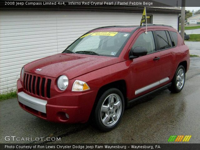 inferno red crystal pearl 2008 jeep compass limited 4x4. Black Bedroom Furniture Sets. Home Design Ideas