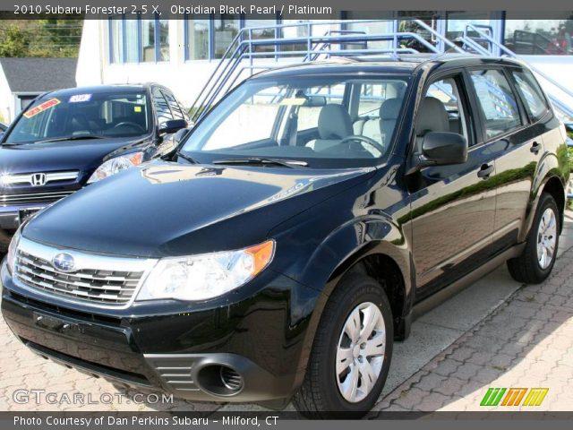Obsidian Black Pearl 2010 Subaru Forester 2 5 X Platinum Interior Vehicle