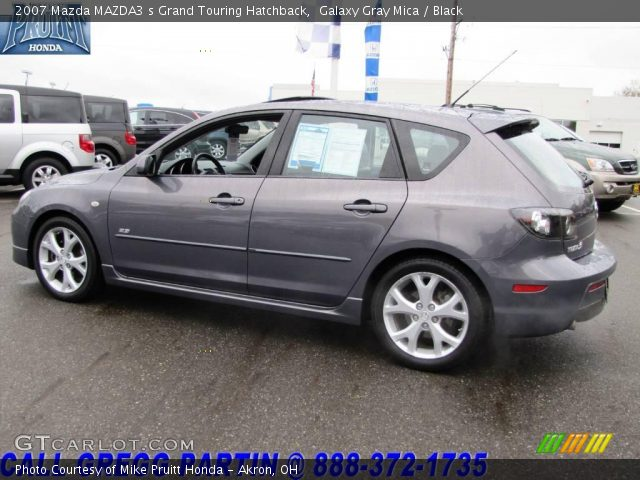 galaxy gray mica 2007 mazda mazda3 s grand touring hatchback black interior. Black Bedroom Furniture Sets. Home Design Ideas