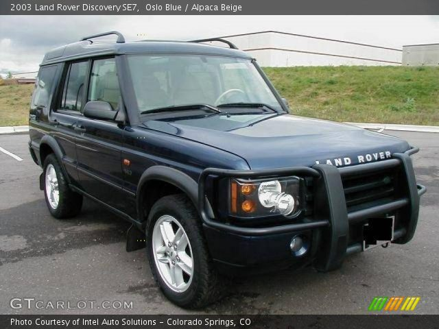 oslo blue 2003 land rover discovery se7 alpaca beige interior vehicle. Black Bedroom Furniture Sets. Home Design Ideas
