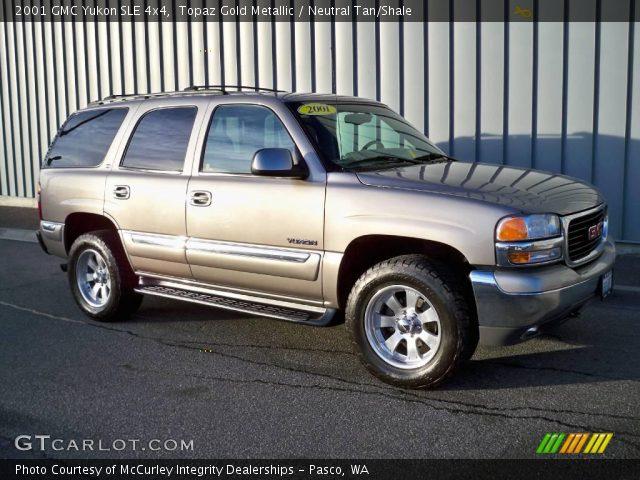 2001 GMC Yukon SLE 4x4 in Topaz Gold Metallic