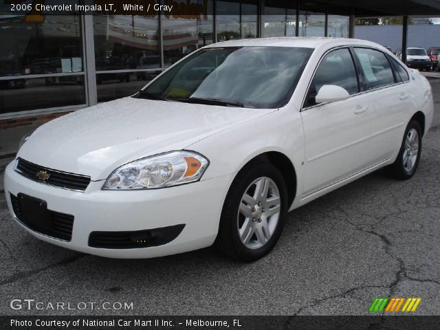 white 2006 chevrolet impala lt gray interior. Black Bedroom Furniture Sets. Home Design Ideas