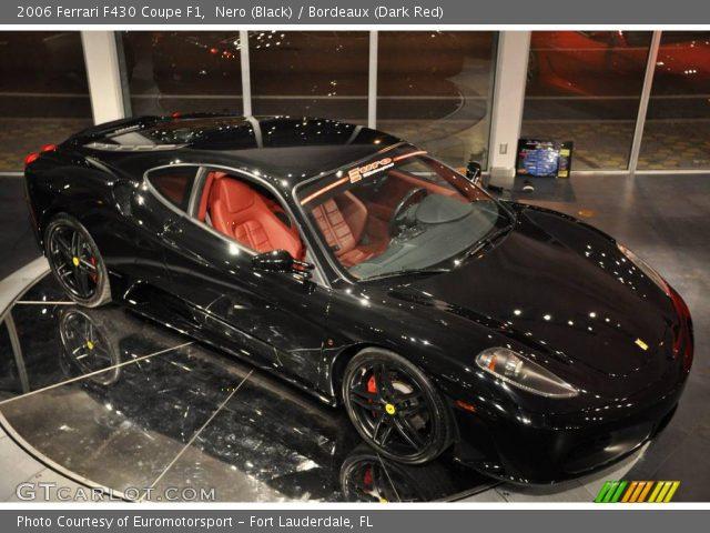 Nero black 2006 ferrari f430 coupe f1 bordeaux dark for F1 bordeaux