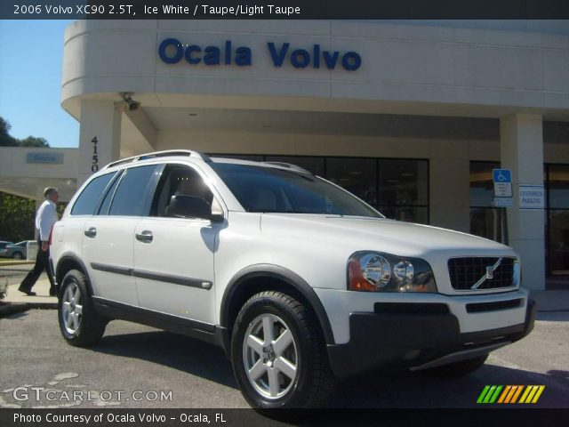 ice white 2006 volvo xc90 2 5t taupe light taupe interior vehicle archive. Black Bedroom Furniture Sets. Home Design Ideas