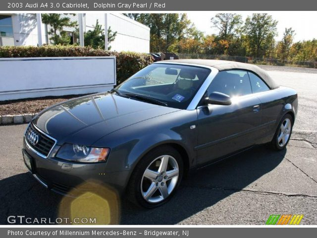 dolphin gray pearl 2003 audi a4 3 0 cabriolet red interior vehicle archive. Black Bedroom Furniture Sets. Home Design Ideas