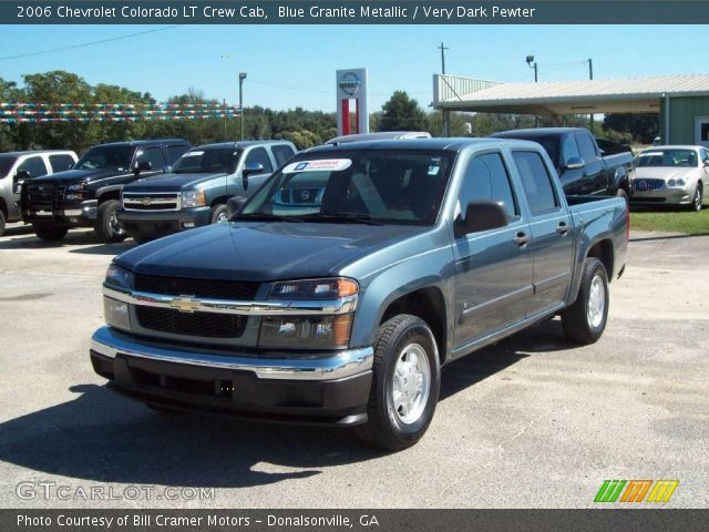 blue granite metallic 2006 chevrolet colorado lt crew cab very dark pewter interior. Black Bedroom Furniture Sets. Home Design Ideas