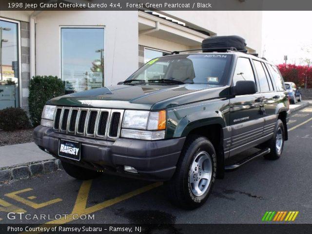 Forest Green Pearlcoat 1998 Jeep Grand Cherokee Laredo 4x4 Black Interior
