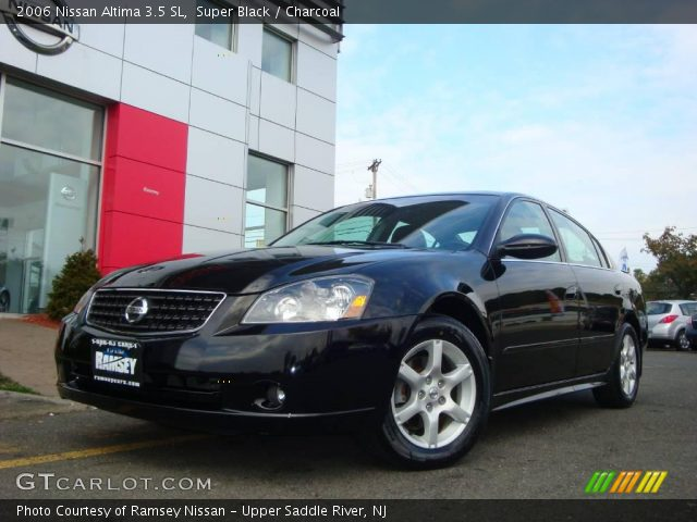 super black 2006 nissan altima 3 5 sl charcoal interior vehicle archive. Black Bedroom Furniture Sets. Home Design Ideas