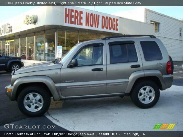 light khaki metallic 2004 jeep liberty limited 4x4