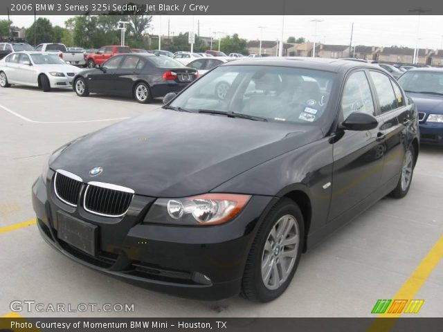 jet black 2006 bmw 3 series 325i sedan grey interior. Black Bedroom Furniture Sets. Home Design Ideas