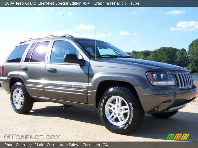graphite metallic 2004 jeep grand cherokee special edition 4x4 taupe interior. Black Bedroom Furniture Sets. Home Design Ideas