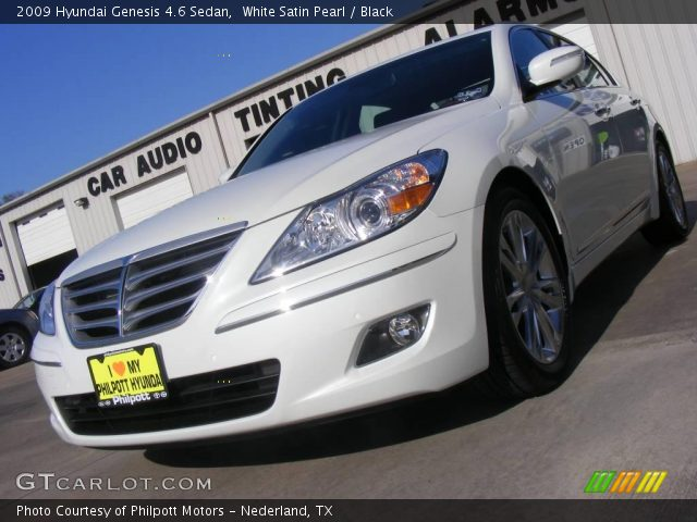 white satin pearl 2009 hyundai genesis 4 6 sedan black. Black Bedroom Furniture Sets. Home Design Ideas