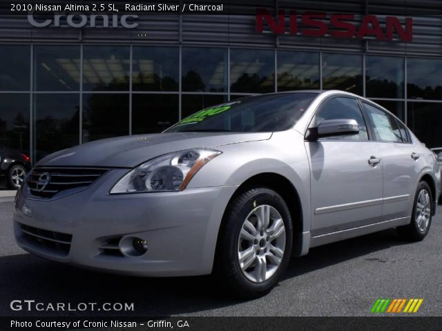 radiant silver 2010 nissan altima 2 5 sl charcoal interior vehicle archive. Black Bedroom Furniture Sets. Home Design Ideas