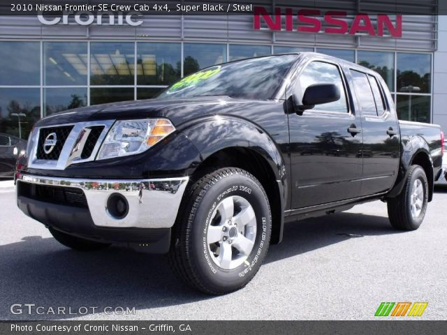 super black 2010 nissan frontier se crew cab 4x4 steel interior vehicle. Black Bedroom Furniture Sets. Home Design Ideas