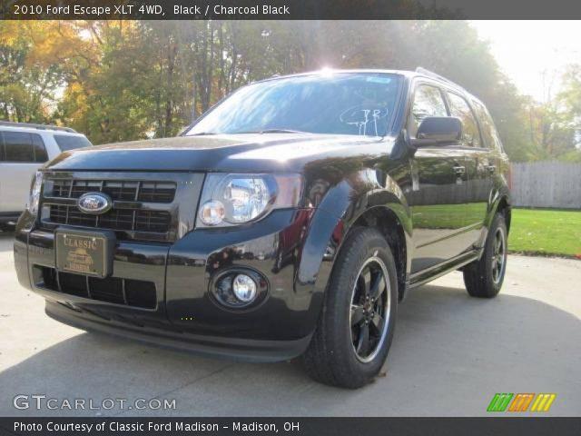 black 2010 ford escape xlt 4wd charcoal black interior gtcarlot. Black Bedroom Furniture Sets. Home Design Ideas