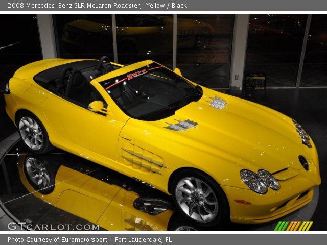 2008 Mercedes-Benz SLR McLaren Roadster in Yellow