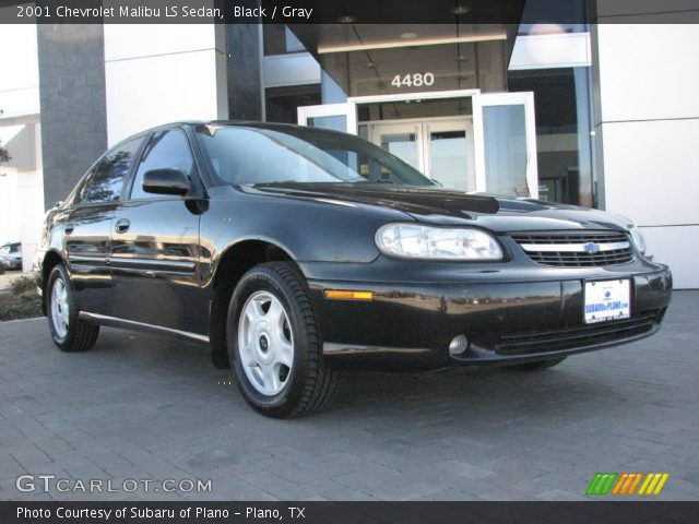 black 2001 chevrolet malibu ls sedan gray interior. Black Bedroom Furniture Sets. Home Design Ideas