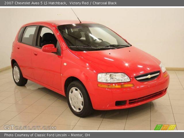victory red 2007 chevrolet aveo 5 ls hatchback. Black Bedroom Furniture Sets. Home Design Ideas