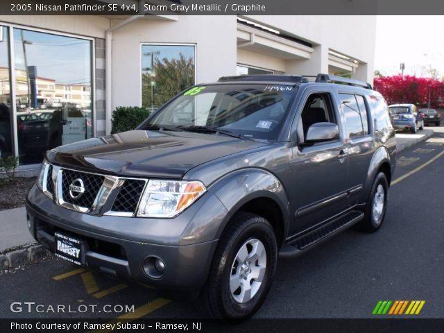 Storm Gray Metallic 2005 Nissan Pathfinder Se 4x4 Graphite Interior Vehicle