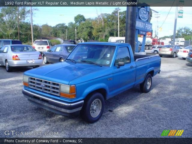 medium lapis metallic 1992 ford ranger xlt regular cab. Black Bedroom Furniture Sets. Home Design Ideas
