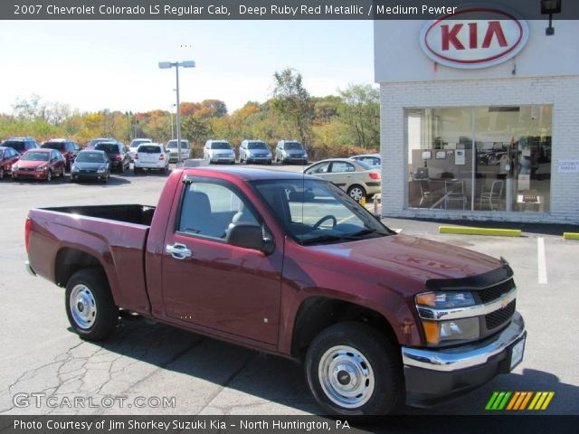 deep ruby red metallic 2007 chevrolet colorado ls regular cab medium pewter interior. Black Bedroom Furniture Sets. Home Design Ideas