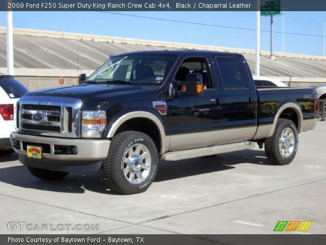black 2009 ford f250 super duty king ranch crew cab 4x4 chaparral leather interior. Black Bedroom Furniture Sets. Home Design Ideas