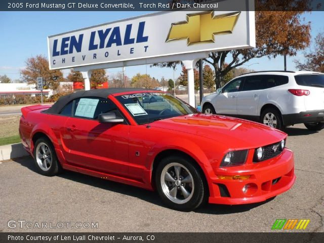 Torch Red 2005 Ford Mustang Gt Deluxe Convertible Dark Charcoal Interior