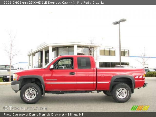 fire red 2002 gmc sierra 2500hd sle extended cab 4x4 graphite interior. Black Bedroom Furniture Sets. Home Design Ideas