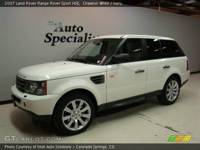chawton white 2007 land rover range rover sport hse ivory interior vehicle. Black Bedroom Furniture Sets. Home Design Ideas