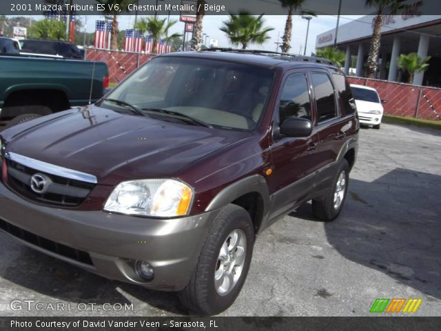 chestnut metallic 2001 mazda tribute es v6 beige. Black Bedroom Furniture Sets. Home Design Ideas