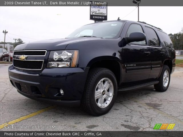 dark blue metallic 2009 chevrolet tahoe lt light. Black Bedroom Furniture Sets. Home Design Ideas