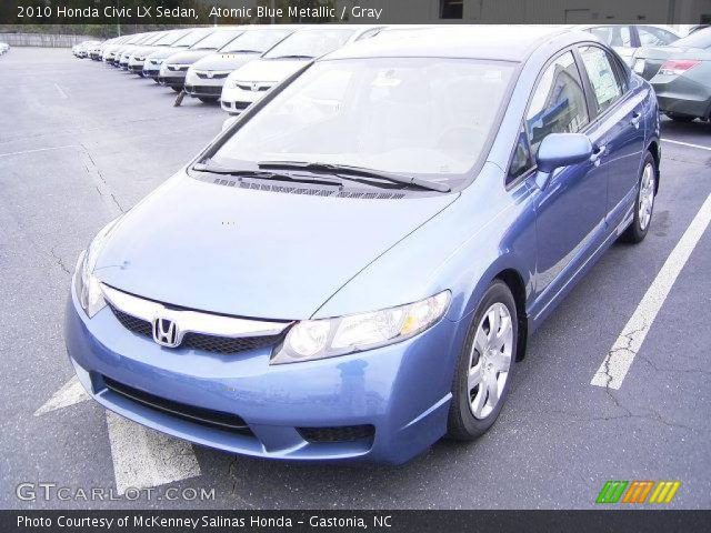 2010 Honda Civic LX Sedan in Atomic Blue Metallic