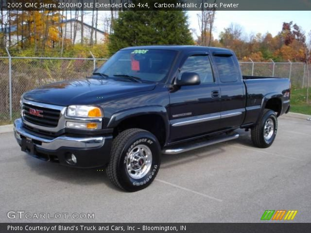 carbon metallic 2005 gmc sierra 2500hd sle extended cab 4x4 dark pewter interior gtcarlot. Black Bedroom Furniture Sets. Home Design Ideas