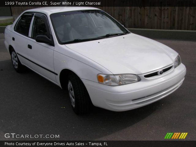 super white 1999 toyota corolla ce light charcoal. Black Bedroom Furniture Sets. Home Design Ideas