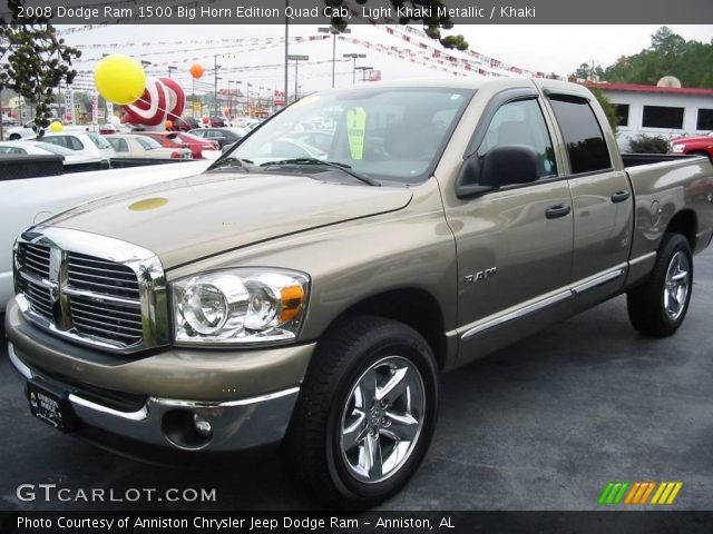 light khaki metallic 2008 dodge ram 1500 big horn edition quad cab khaki interior gtcarlot. Black Bedroom Furniture Sets. Home Design Ideas