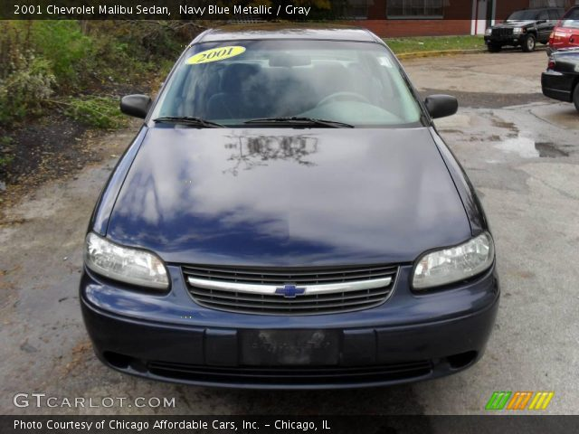 navy blue metallic 2001 chevrolet malibu sedan gray. Black Bedroom Furniture Sets. Home Design Ideas