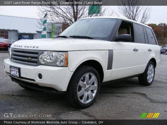 chawton white 2007 land rover range rover hse sand beige interior vehicle. Black Bedroom Furniture Sets. Home Design Ideas