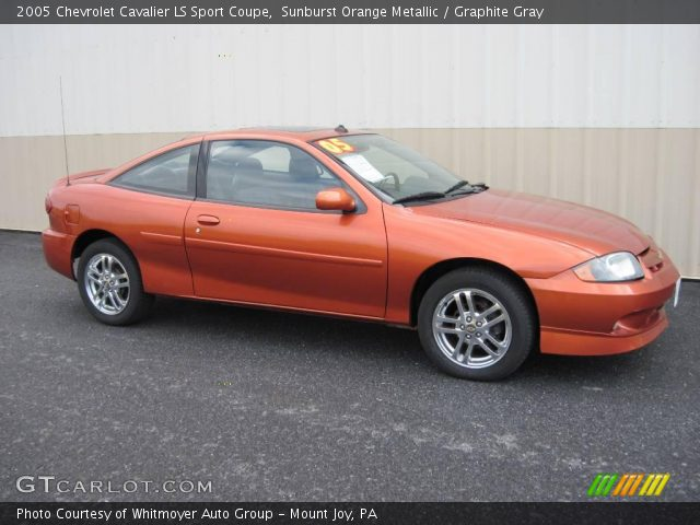 sunburst orange metallic 2005 chevrolet cavalier ls sport coupe graphite gray interior. Black Bedroom Furniture Sets. Home Design Ideas